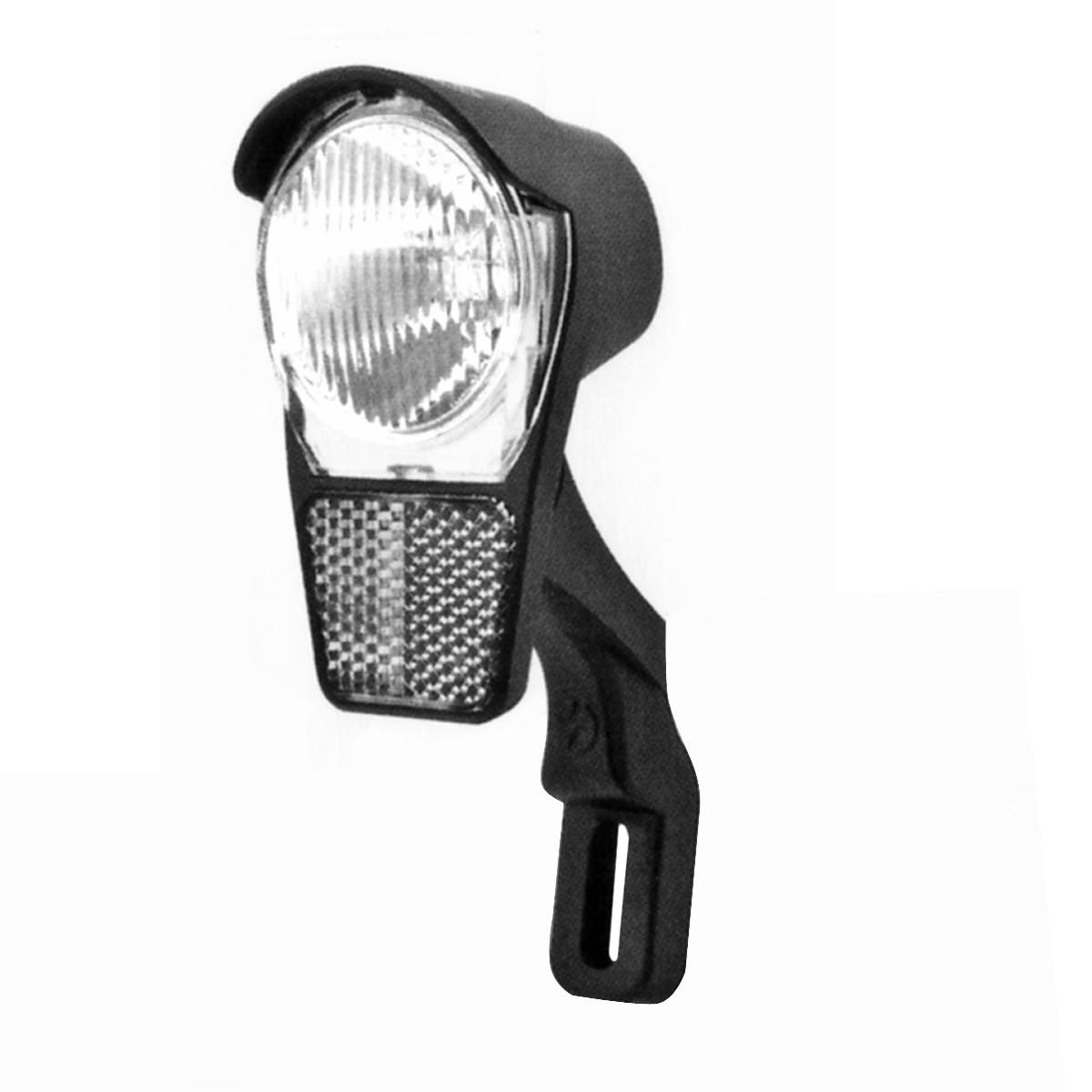Éclairage avant Spanninga Galeo Xdo 1 LED 4 LUX Fix. sur fourche Dynamo Noir