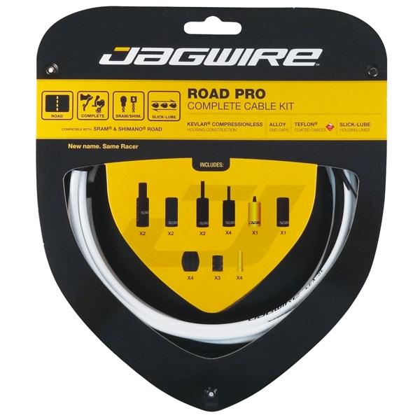 Kit complet câbles et gaines Jagwire Road Pro - Blanc RCK004