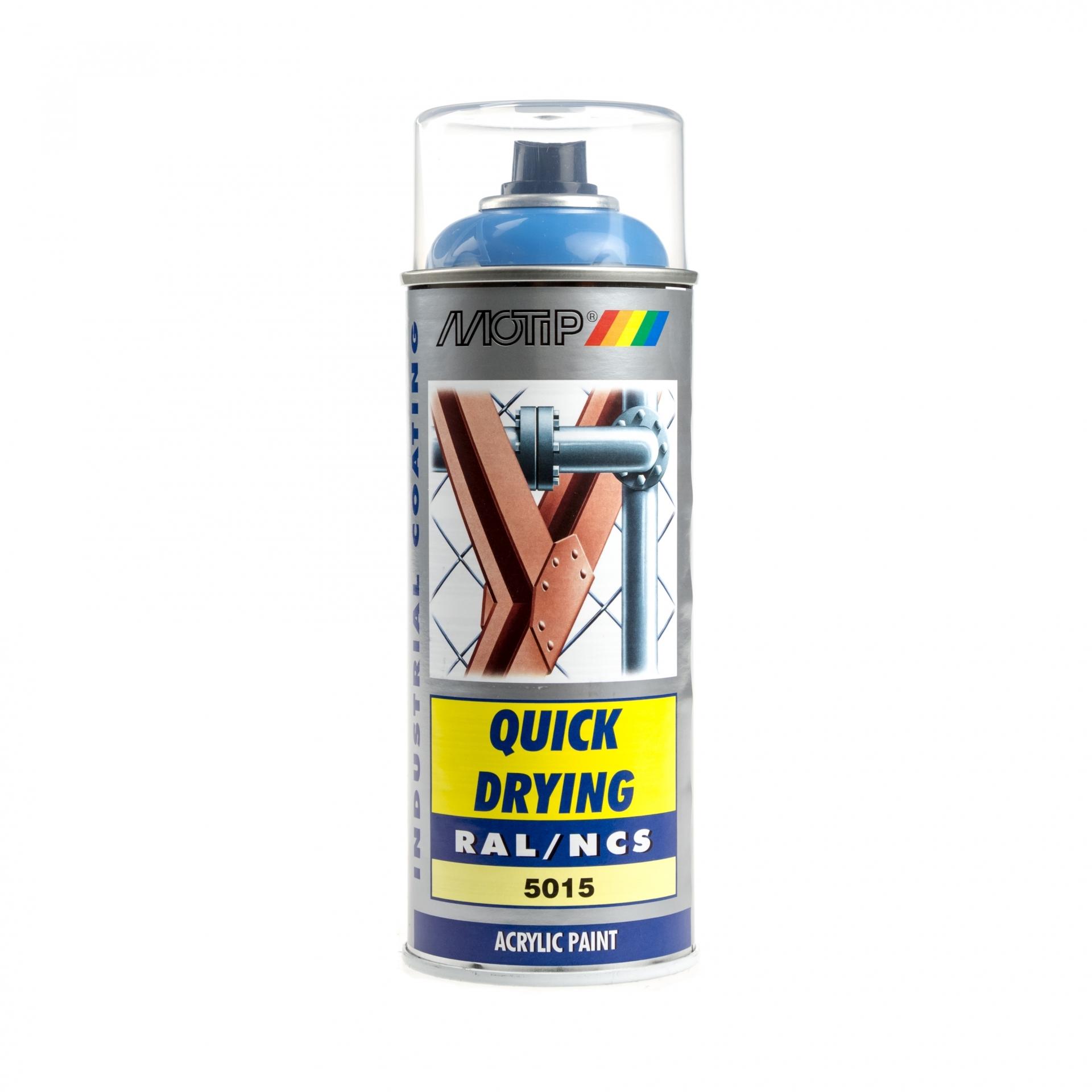 Bombe de peinture MoTip bleu ciel brillant acrylique RAL 5015 400 ml M07012