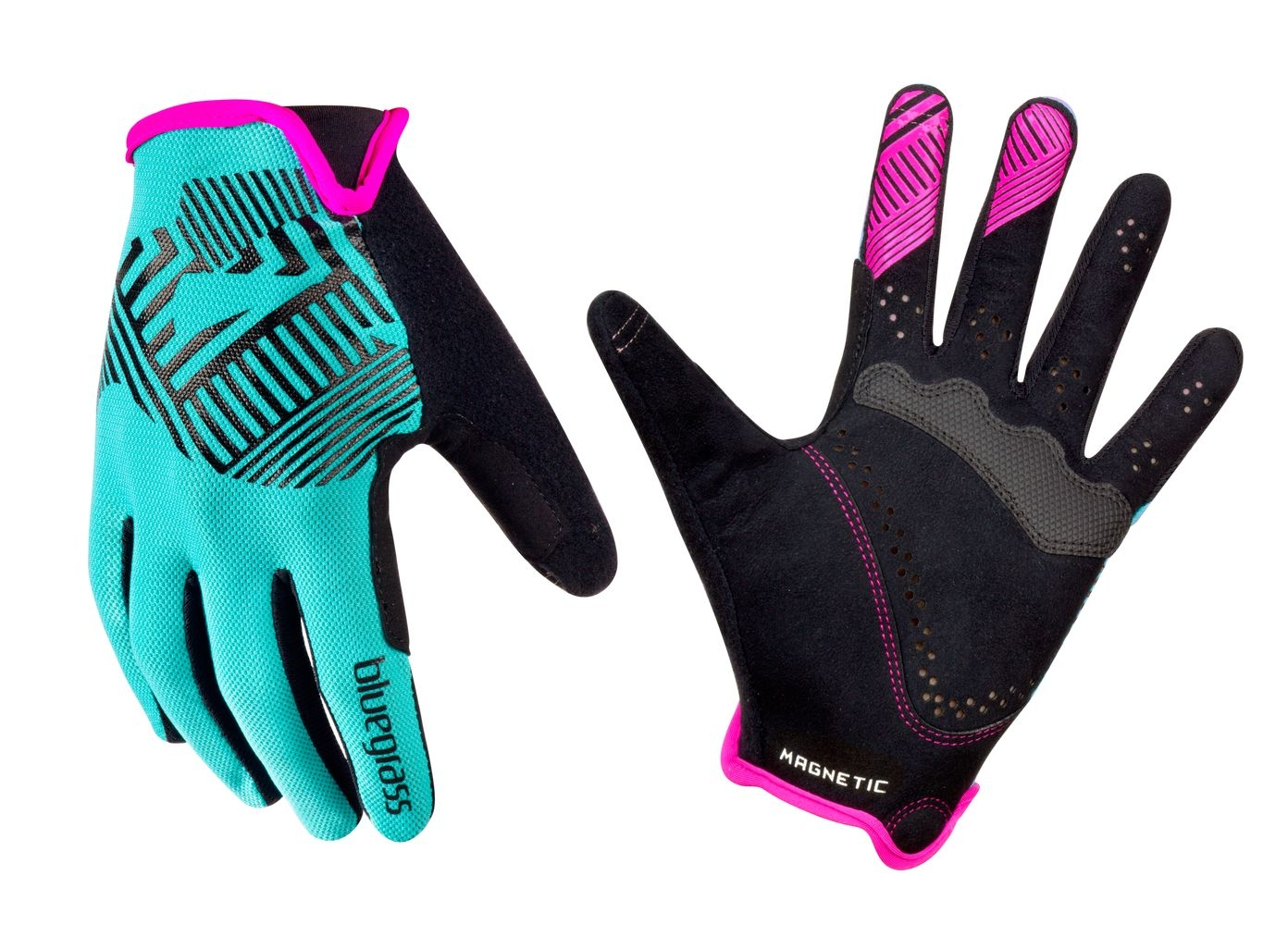 Gants Bluegrass Magnete Rock Cyan/Magenta - S