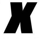 Sticker lettre X Noir