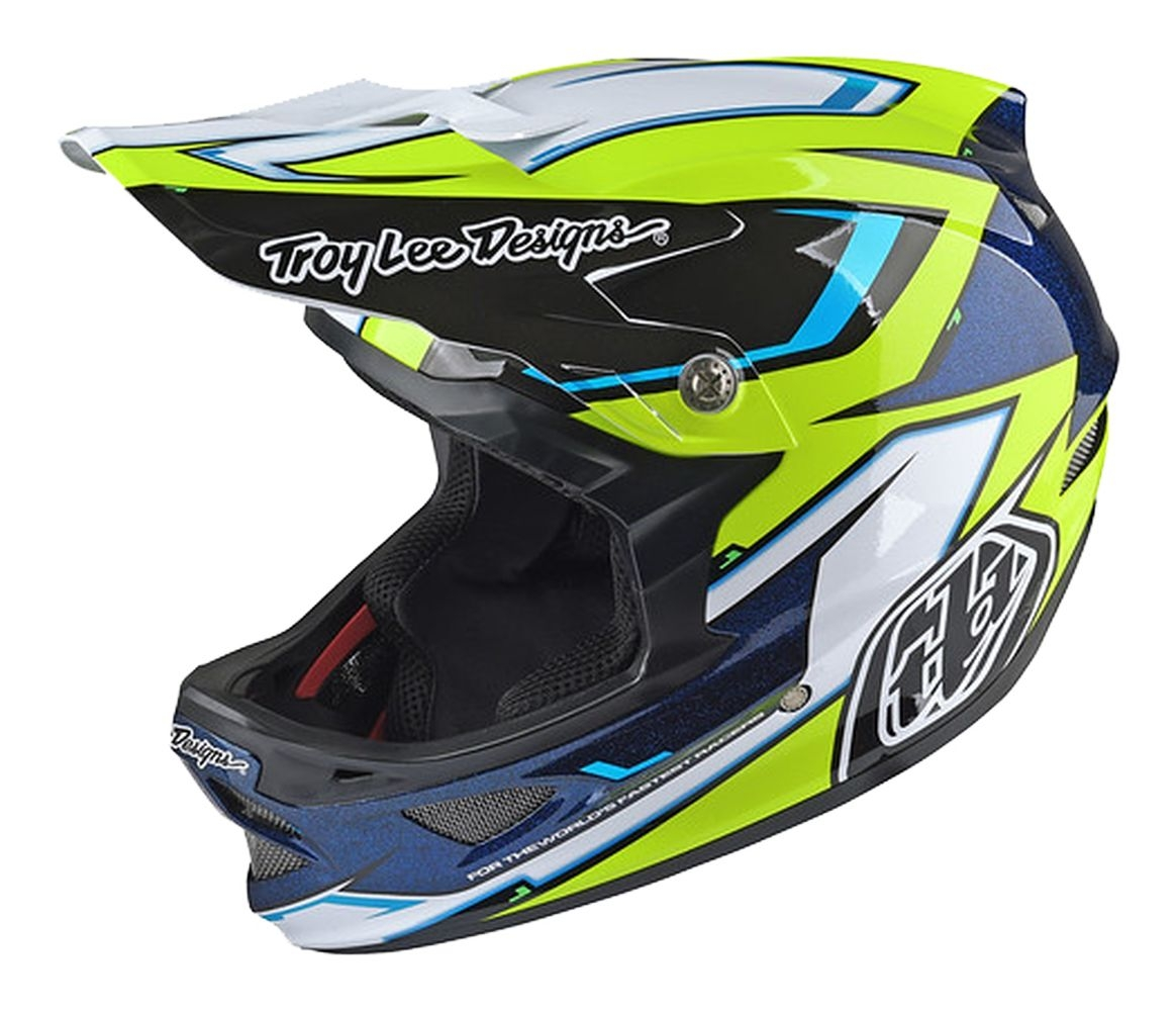 Casque Troy Lee Designs D3 Cadence Noir/Jaune - M
