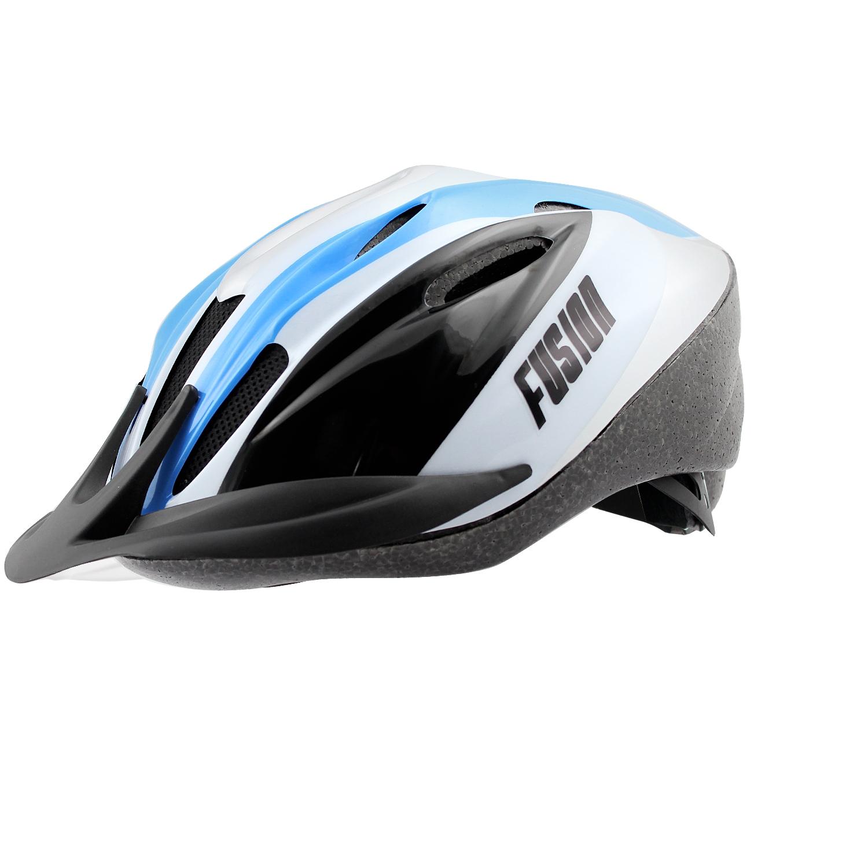 Casque vélo Fusion Adulte VTT Argent/Bleu/Noir - 54/58