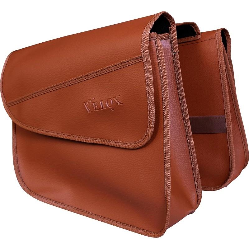 Sacoches arrière pour porte-bagages VELOX Caramel (la paire)