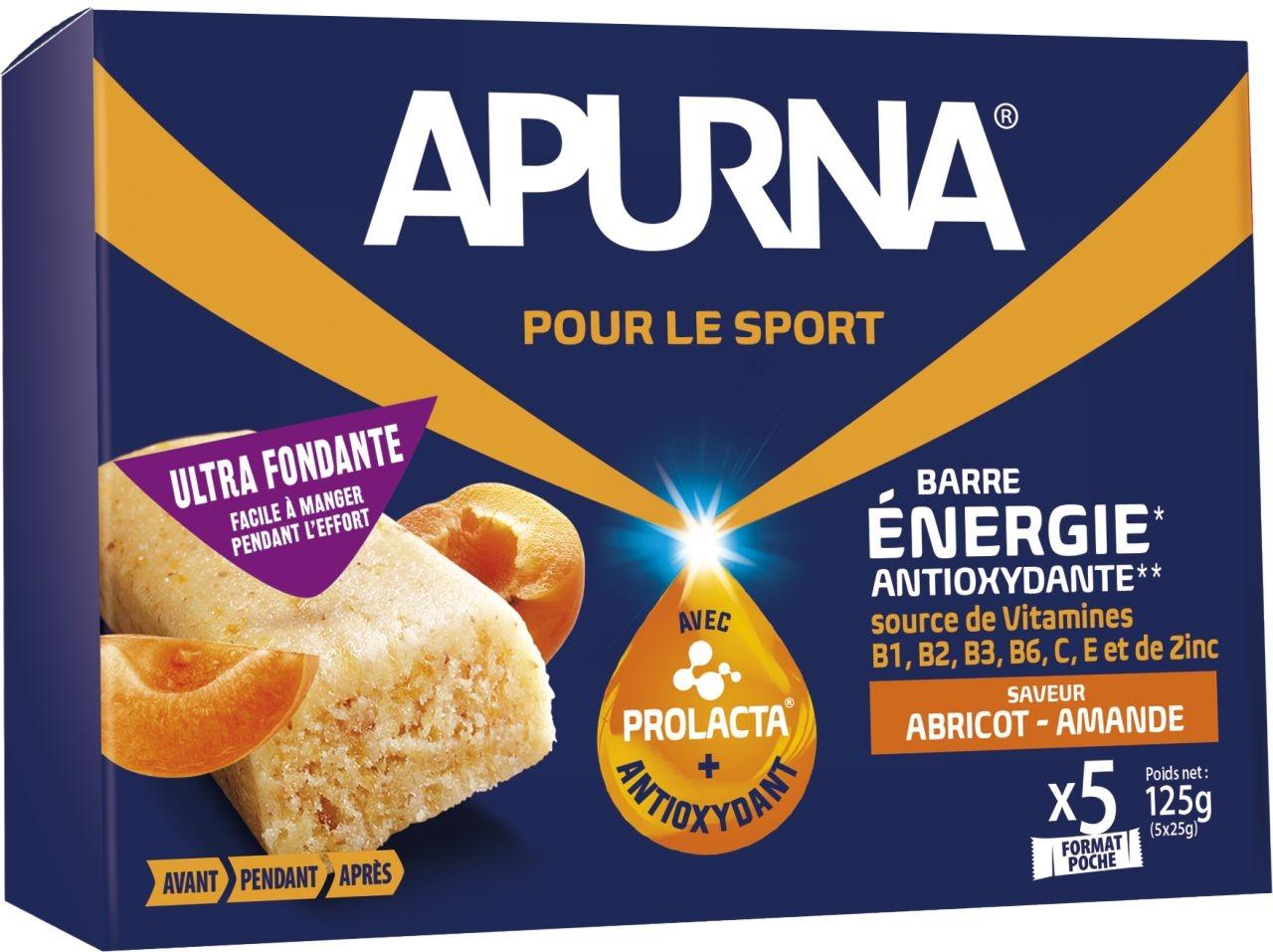 Barre fondante Apurna Abricot/Amande Étui 5x25 g