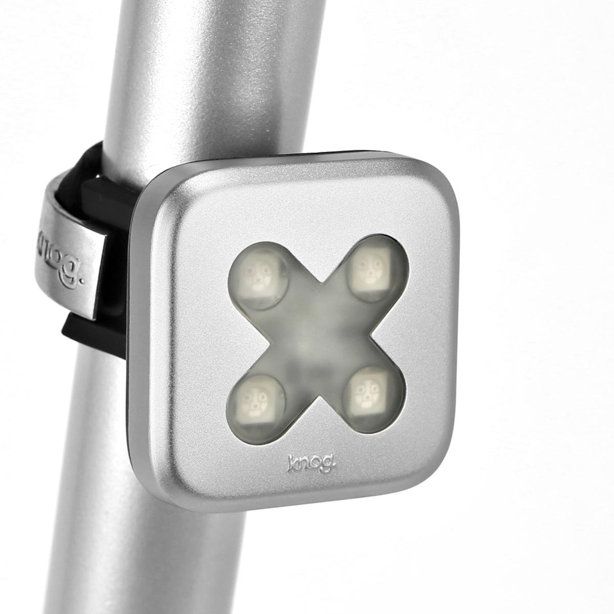 Éclairage arrière Knog Blinder croix 4 LED - Argent