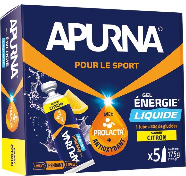 Gel énergie Apurna Liquide Citron Étui 5x35 g