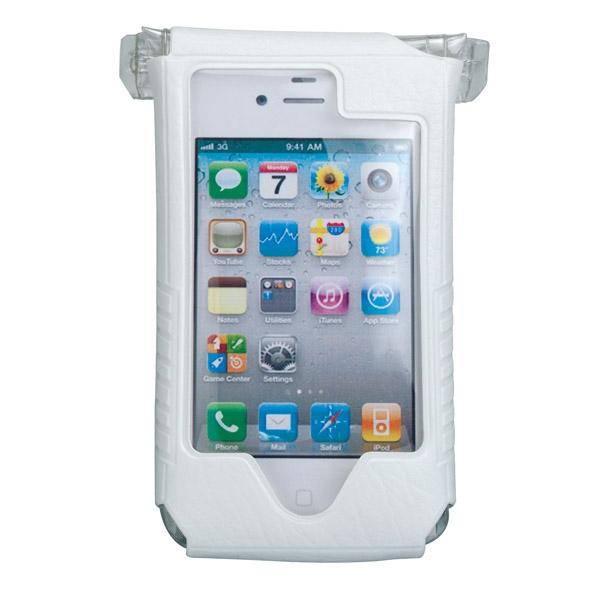 Housse étanche et support Topeak SmartPhone DryBag - Apple iPhone 4 & 4S (blanc)