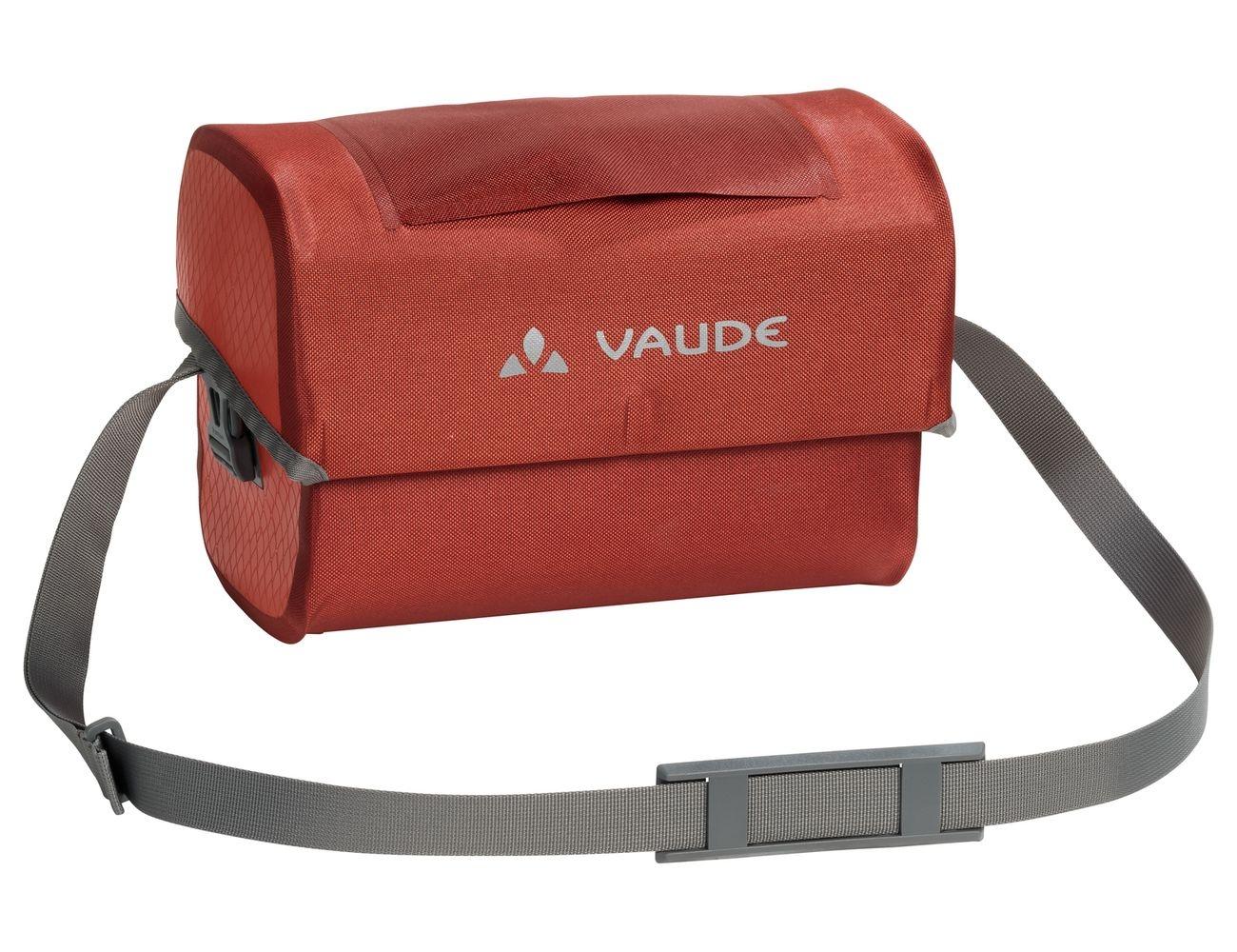 Sacoche étanche de guidon Vaude Aqua Box 6 L + Support KLICKfix Rouge Lava
