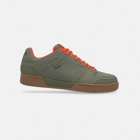 Chaussures VTT Giro Jacket Kaki/Rouge Orange/Gum - 43