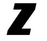 Sticker lettre Z Noir