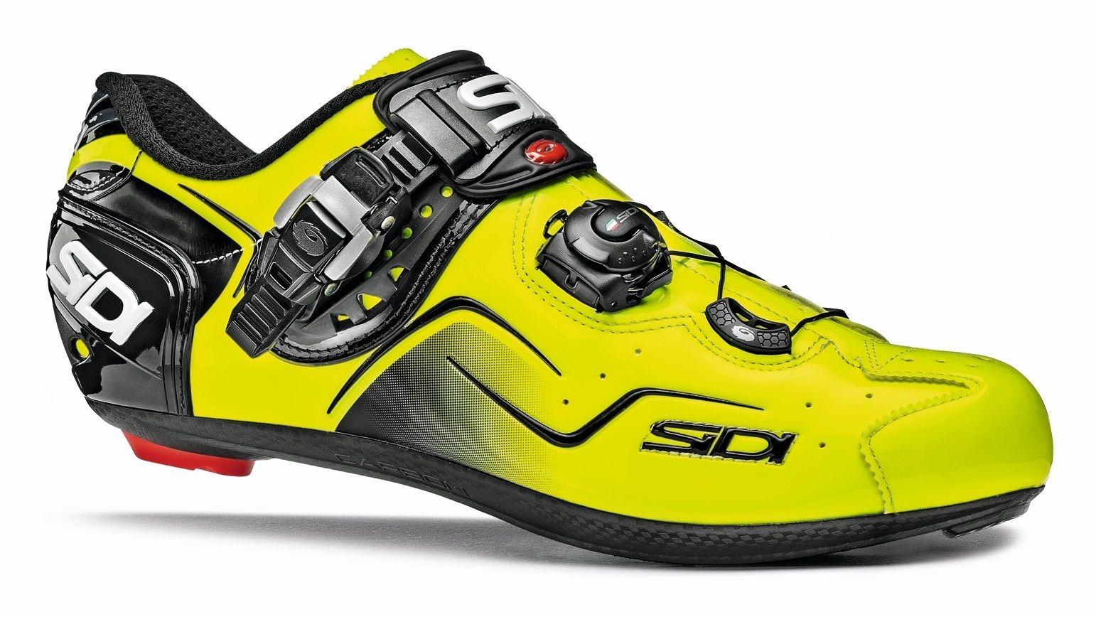 Chaussures Sidi KAOS Jaune fluo/Noir verni - 43