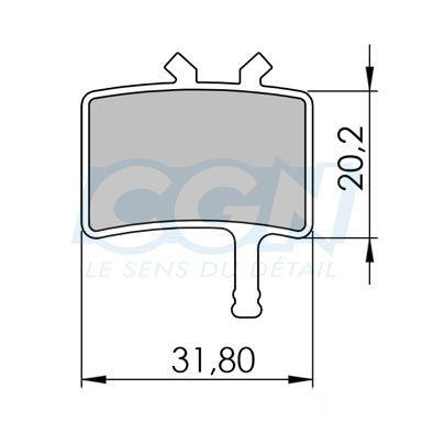 Plaquettes de frein 05 Clarks comp. Avid Juicy / BB7 Semi métallique