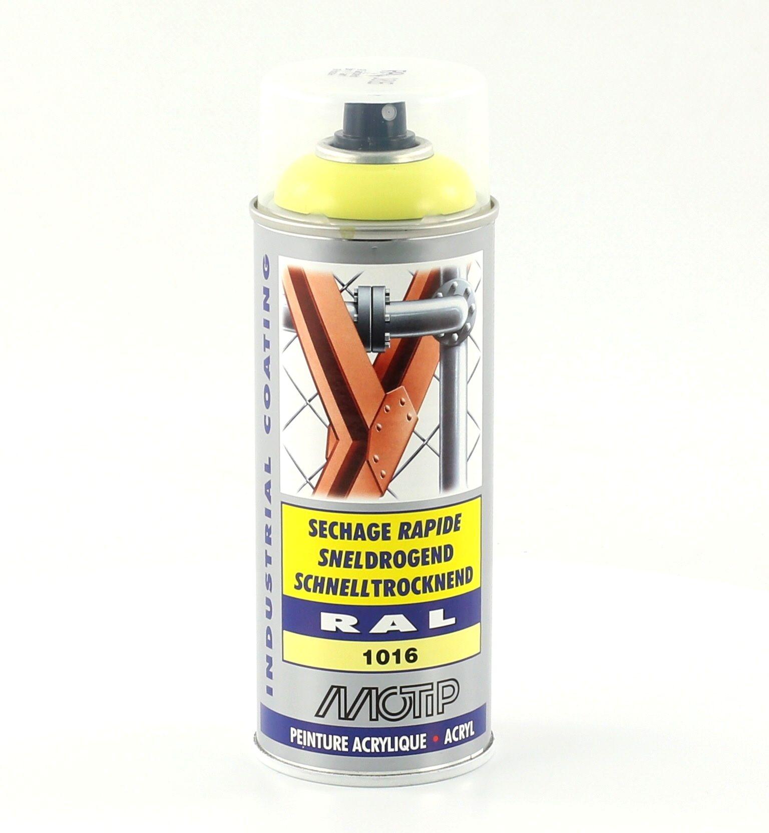 Bombe de peinture jaune soufre brillant acrylique RAL 1016 400 ml M07003