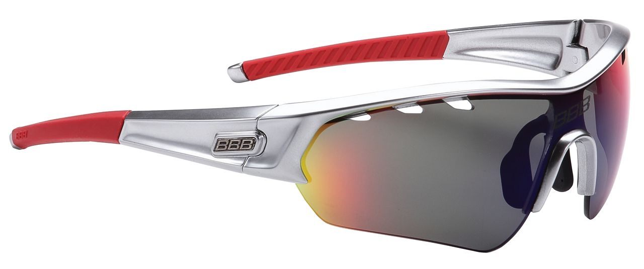 Lunettes BBB Select Special Edition verre Revo (chrome/rouge) - BSG-43SE