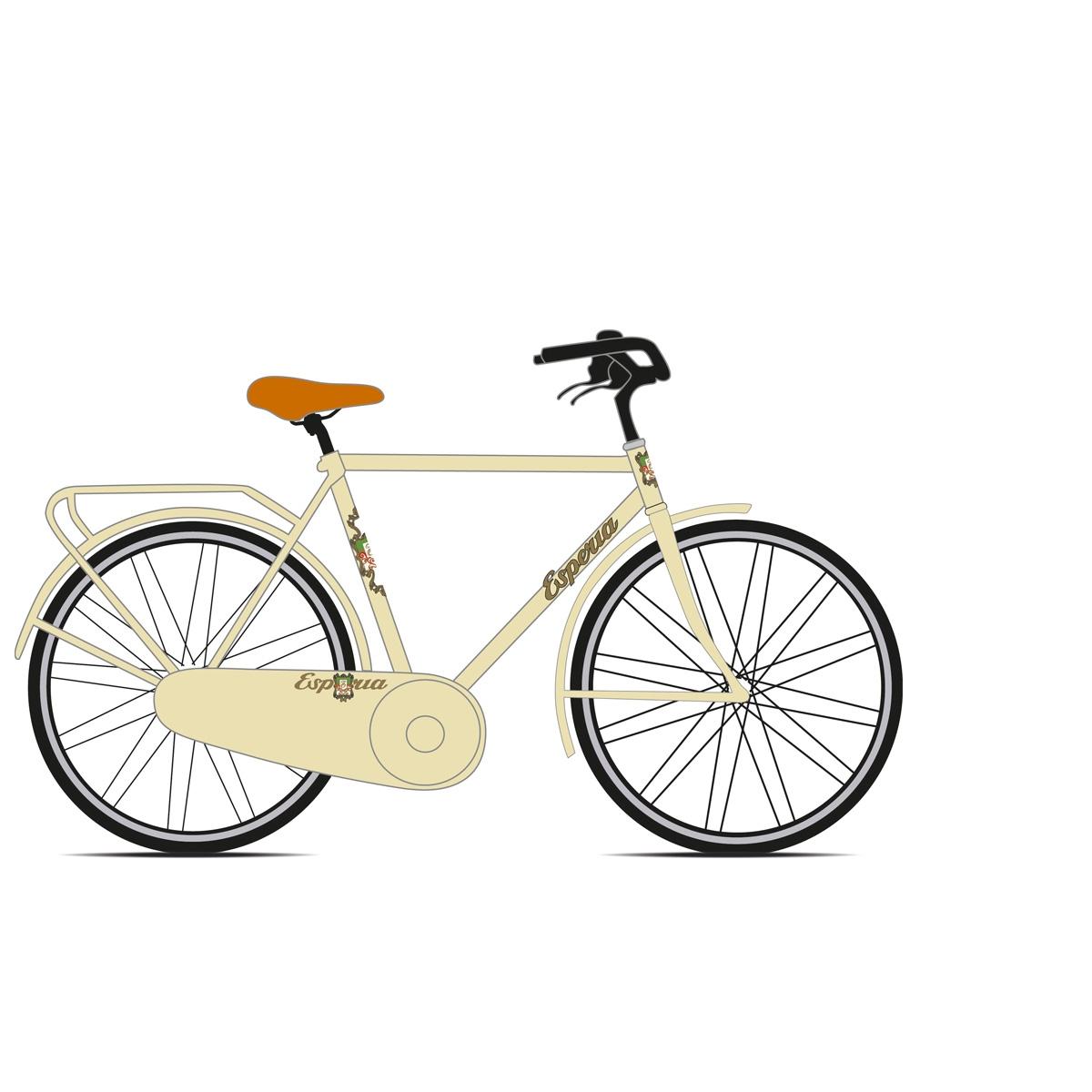 Vélo vintage Esperia homme 2280u Retro' Creme