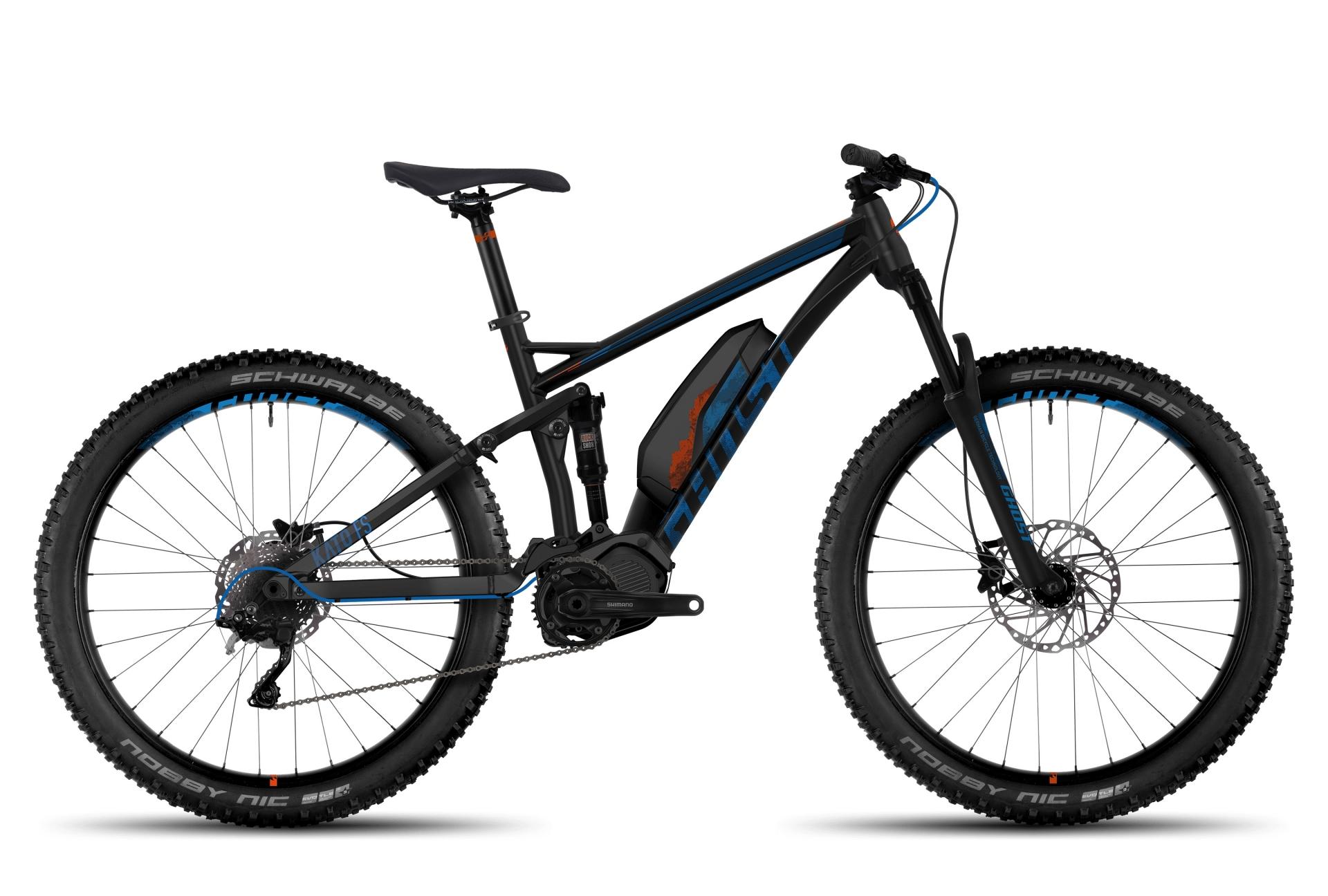 VTT électrique Ghost Kato FS 4 AL 27.5 + Noir / Bleu - L