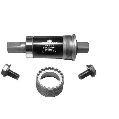 Boîtier de pédalier SunRace carré 68 mm x 113 mm
