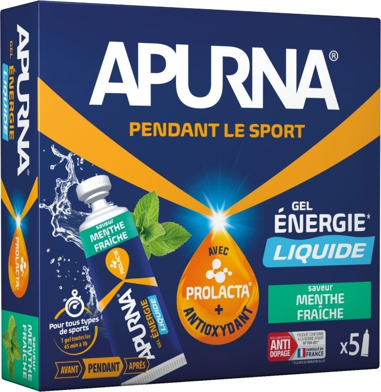 Gel énergie Apurna Liquide Menthe Étui 5x35 g
