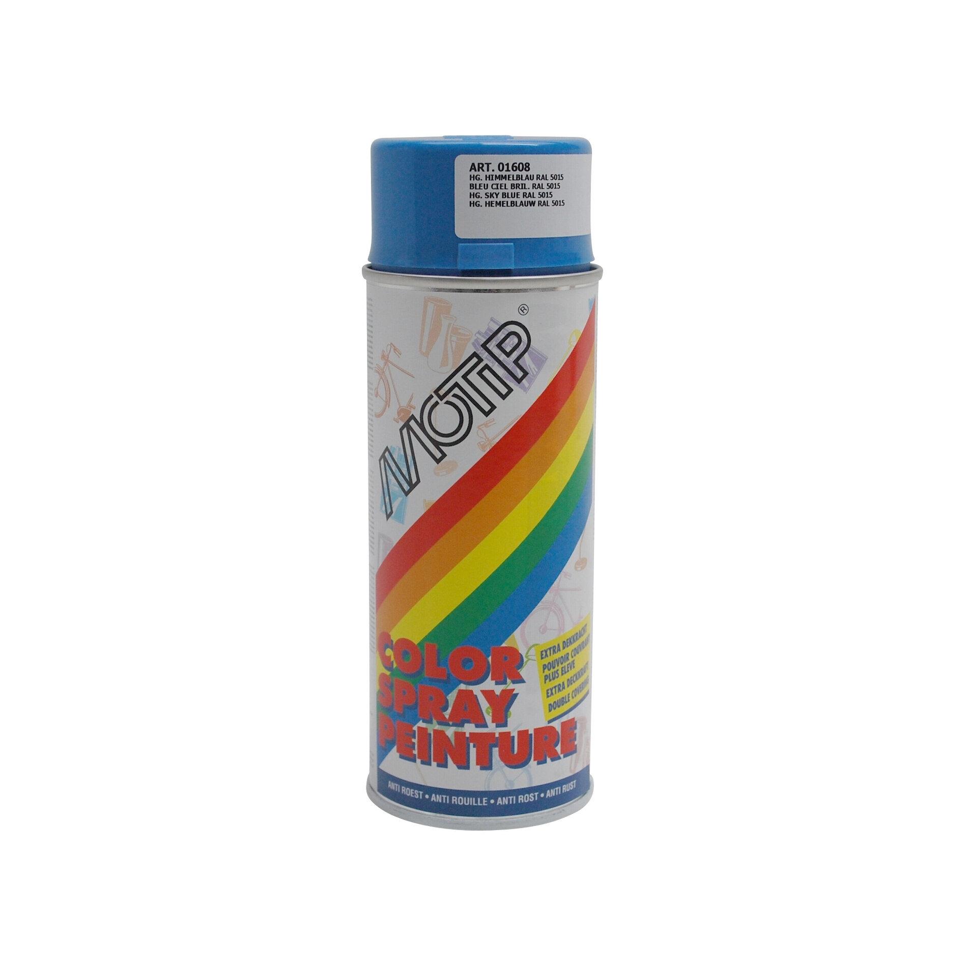 Bombe de peinture MoTip bleu ciel brillant RAL 5015 400 ml M01608