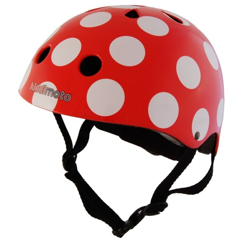Casque enfant Kiddimoto Red And Dotty - M (53-58 cm)