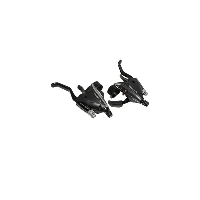 Levier-manette Saiguan Azera 3x9V comp. Shimano Alu pour frein V-Brake (Paire) Noir