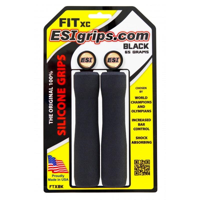 Poignées ESI Grips FIT XC silicone Noir