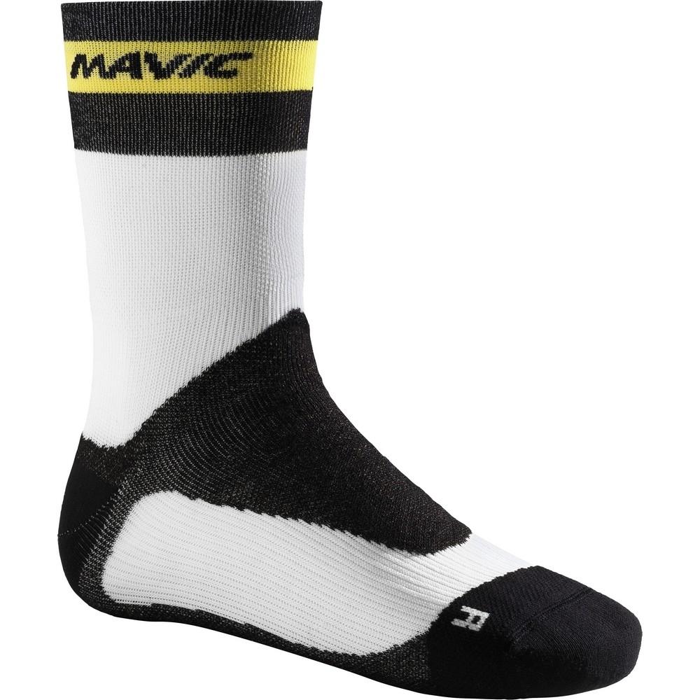 Chaussettes Mavic Ksyrium Pro Thermo+ Sock Blanc/Noir - 35-38
