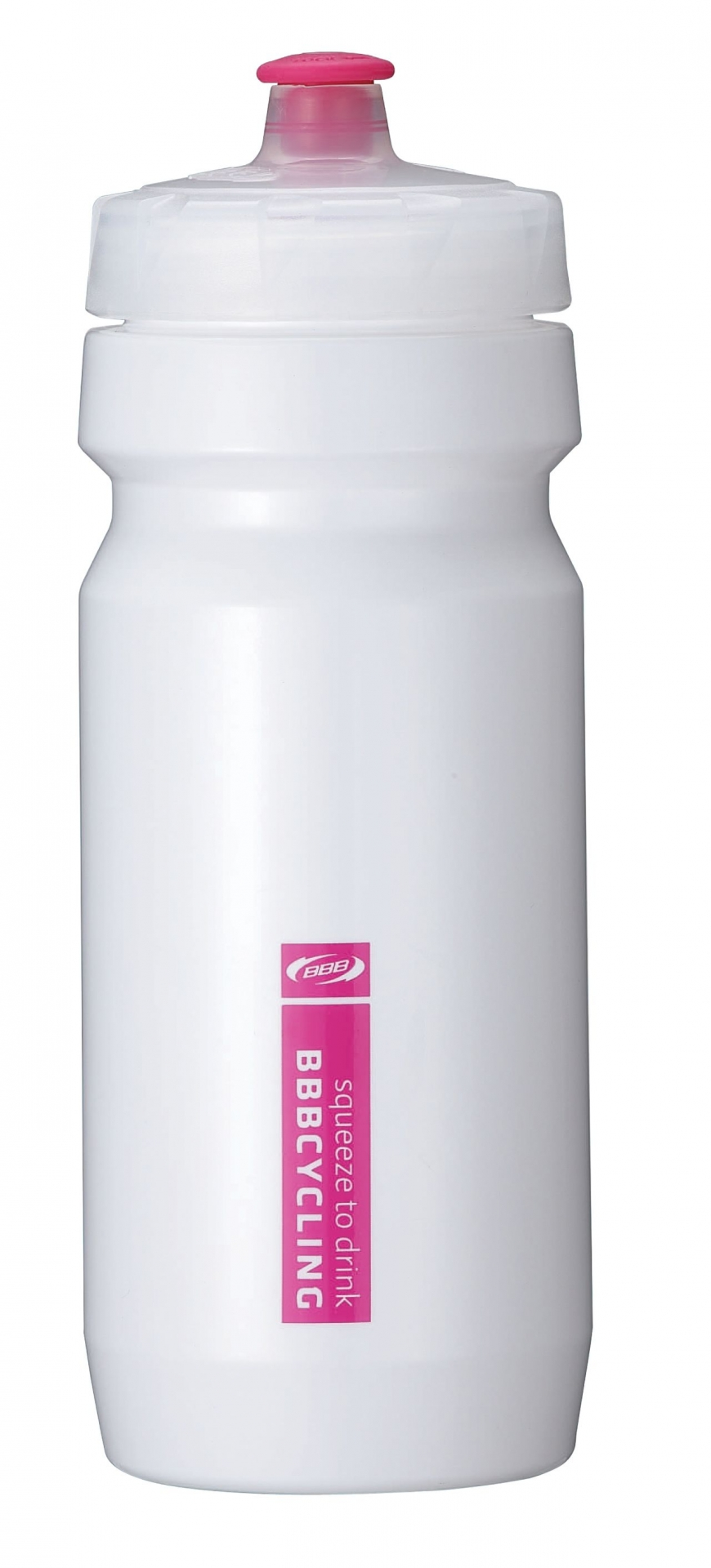 Bidon BBB CompTank 550 ml Blanc/Magenta - BWB-01