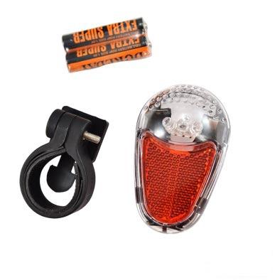 Éclairage AR 3 LEDs à piles Fix. Tige de selle