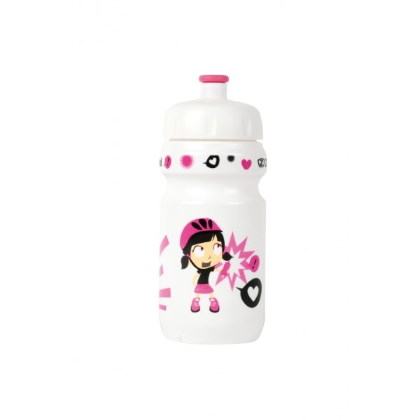 Bidon enfant Zéfal Z-Girl 350 ml + Clip Blanc/Rose