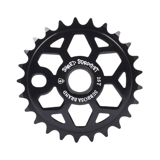 Couronne Subrosa Shred Sprocket 28 dents Noir brillant