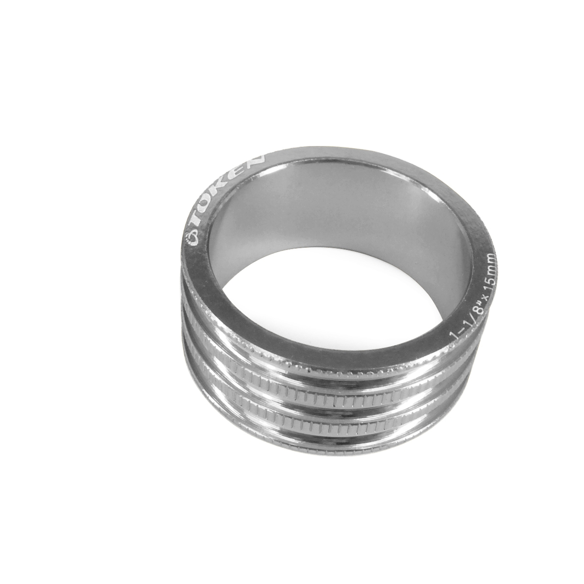 Entretoise Ahead-Set Token 15 mm 9,2 G Argent X 10