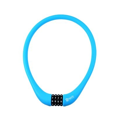 Antivol Rangers Câble à Code D.15 x 0.75 m 100 % Silicone Bleu