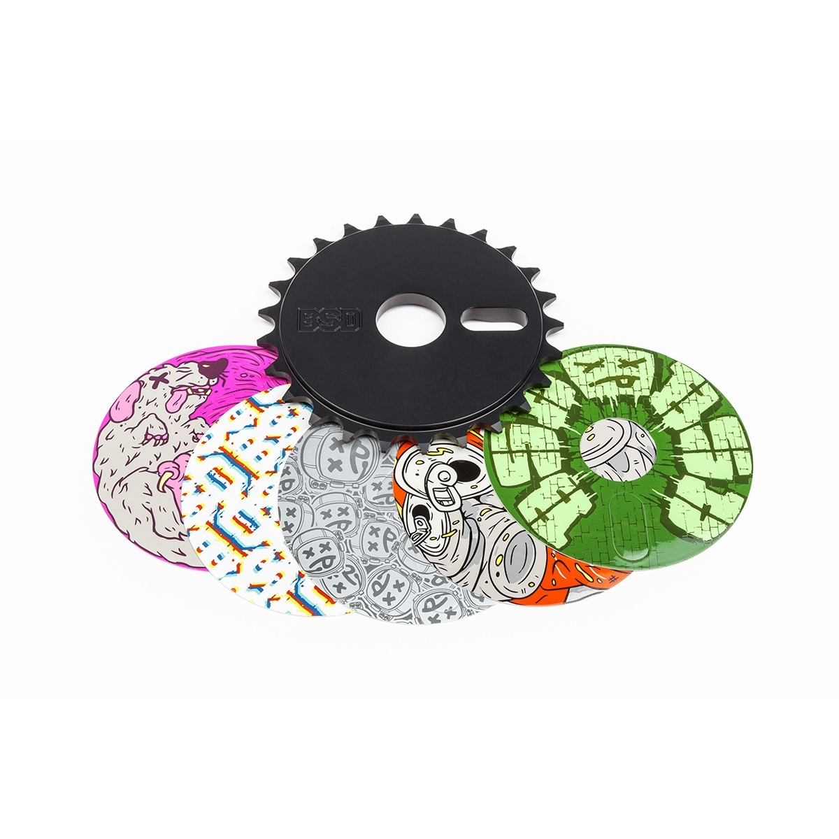 Couronne BMX BSD Sticker Bomb Sprocket 25 dents Noir