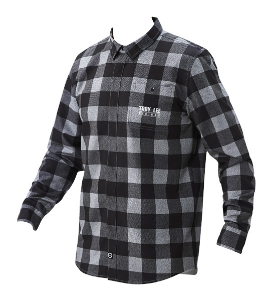 Chemise Troy Lee Designs Grind Plaid Gris - S