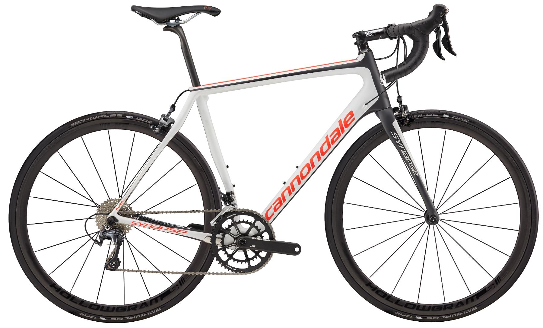 Vélo route Cannondale Synapse Hi-MOD Ultegra 2017 Blanc/Rouge/Noir - 54 cm
