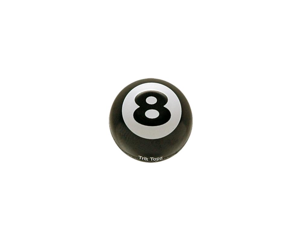 Bouchon de valve TrickTopz Boule 8 Noire (x2)