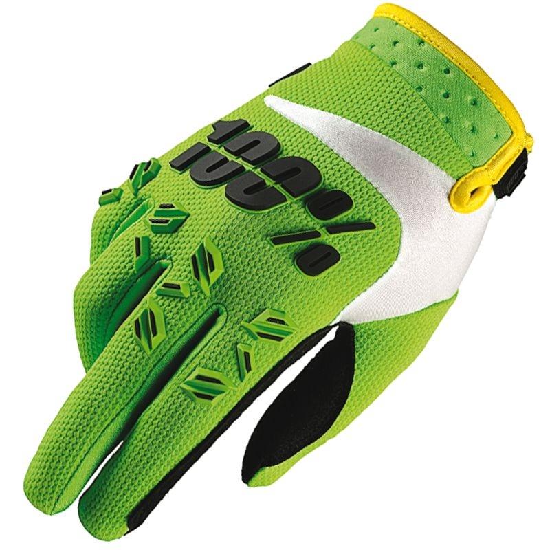 Gants 100% Airmatic Lime Green (Vert) - L