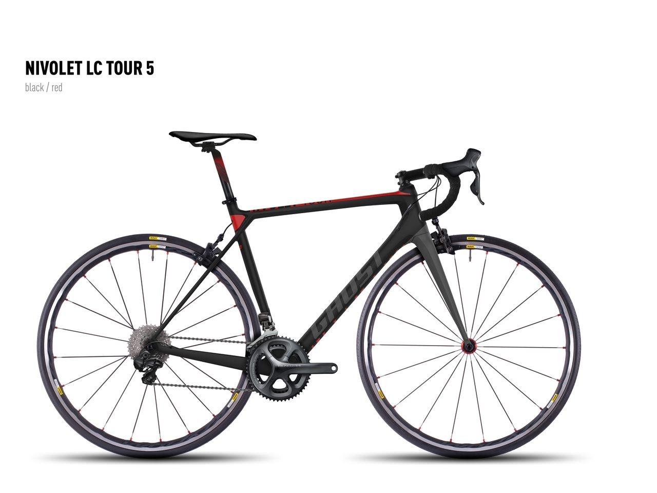 Vélo Ghost Nivolet Tour LC 5 Noir/Rouge - S