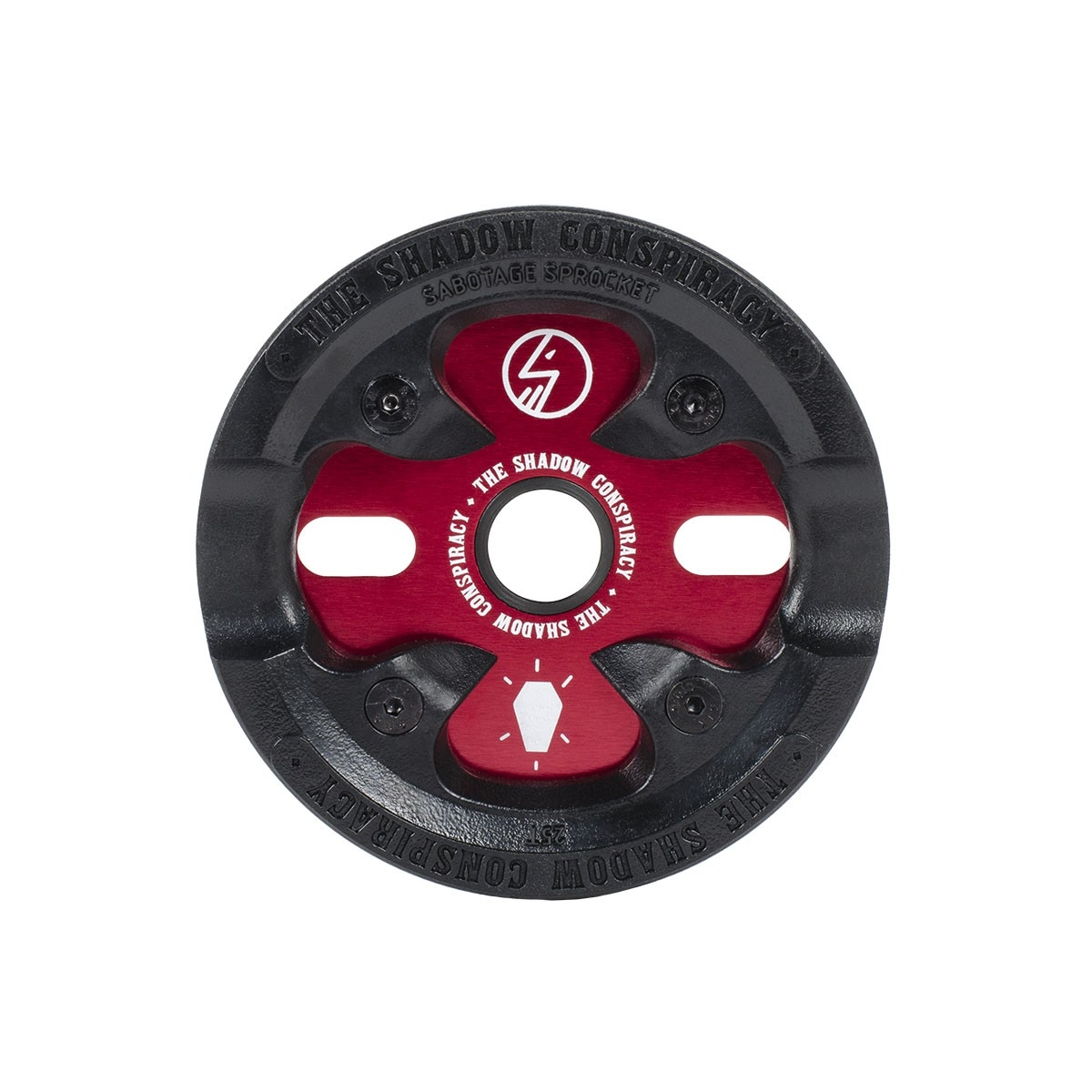 Couronne BMX TSC Sabotage Sprocket 25 dts Rouge Crimson