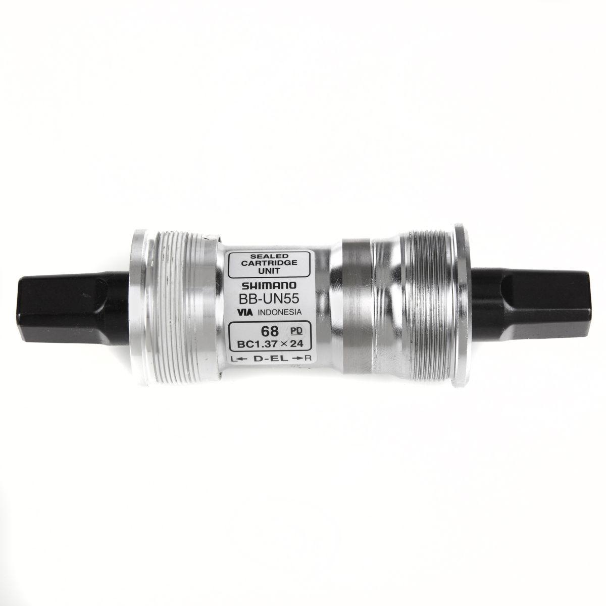 Boîtier de pédalier Shimano BBUN55 Carré BSA 68 x 127,5 mm