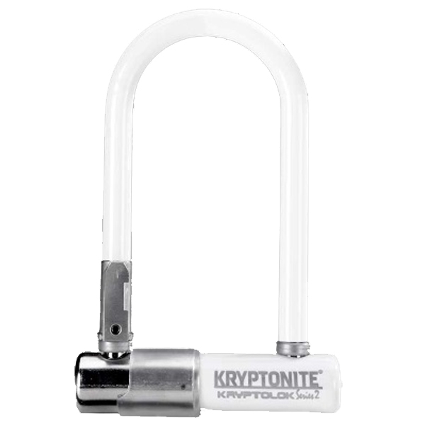 Antivol Kryptonite KryptoLok Series 2 Mini-7 U + Support cadre Blanc