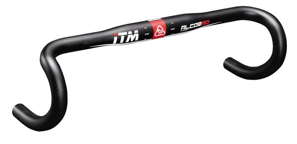 Cintre route ITM Alcor 80 alu 6061 31.8 mm 38 cm noir