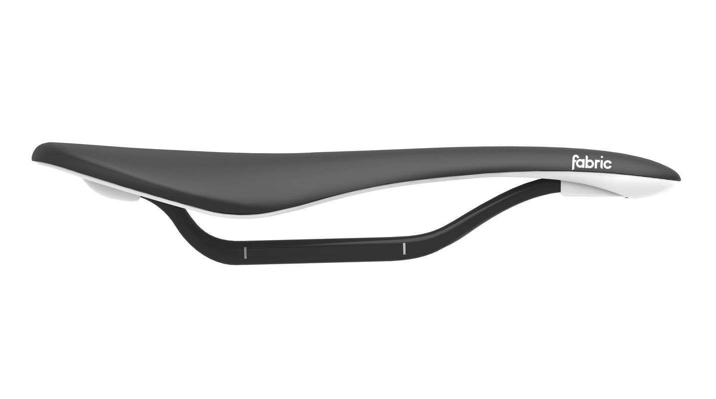 Selle Fabric Scoop Flat Pro Noir/Blanc