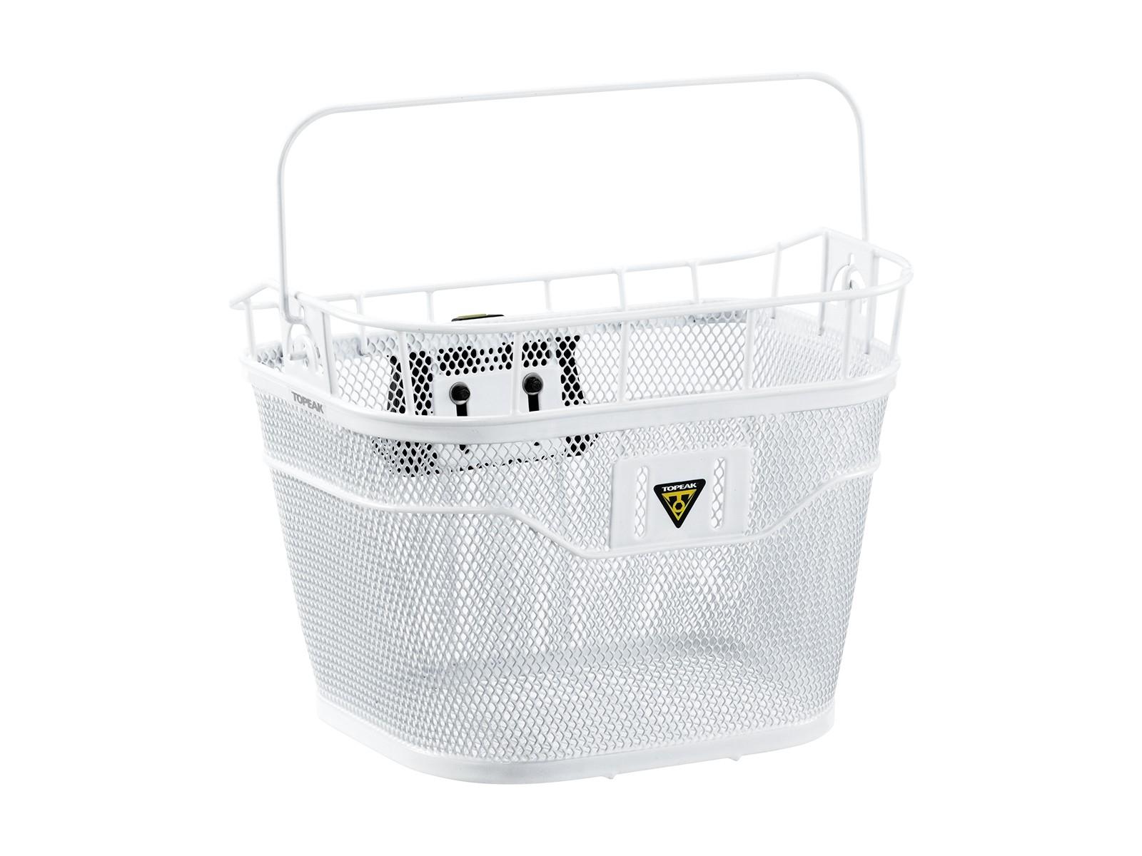 Panier avant Topeak Wire Basket + fixation Quickclick VAE 16 L Blanc
