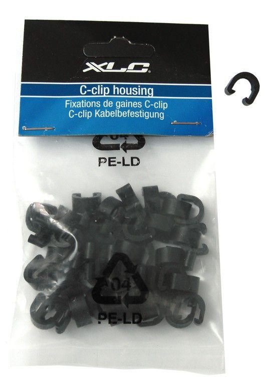 Clip de gaine XLC BR-X30 C-Clip (x50 pièces) Noir