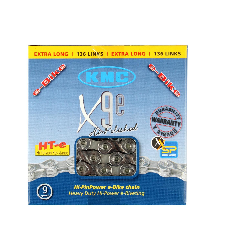 Chaîne vélo KMC 9 Vitesses X9E 136 Maillons