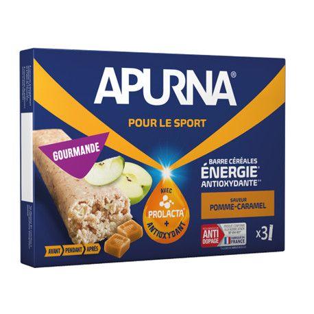 Barre énergie Apurna Pomme Caramel Étui 3x40 g