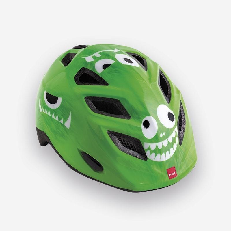 Casque enfant MET Elfo Monsters Vert